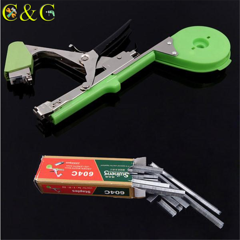 10000pcs/Set Carbon Steel Nails Garden Staples Tool For Plant Tying Tapetool Tapener Machine
