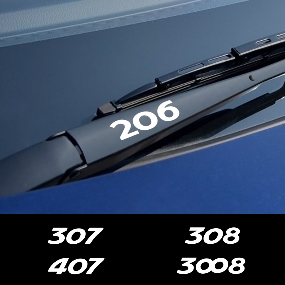 4PCS Car Styling Window Wiper Stickers For Peugeot 307 206 308 407 207 3008 208 508 2008 301 408 607 4008 5008 Auto Accessories