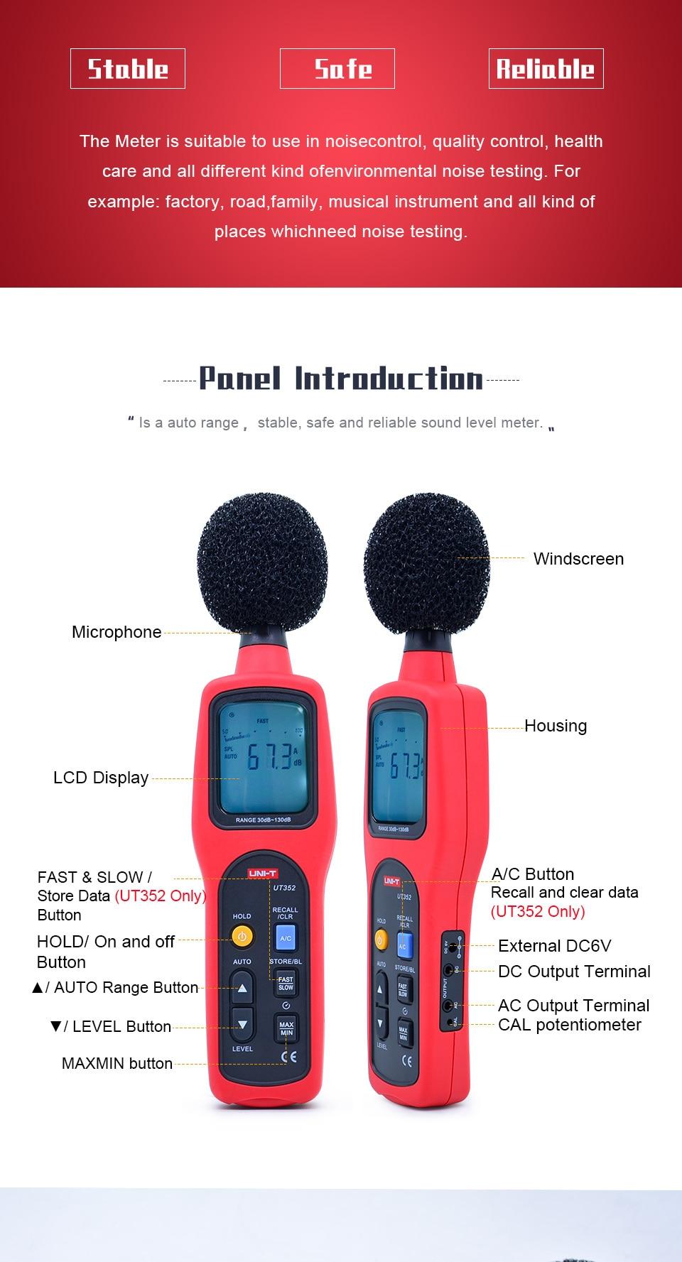 Medidores de nível de som