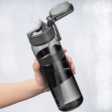 550ml 850ml açık su şişesi saman sporları şişe içme seyahat taşınabilir kamp plastik tritan şişe BPA ücretsiz