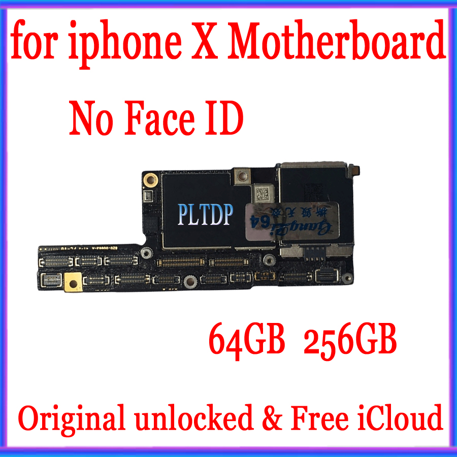 Trend  Good Tested 100% Original for iPhone X Motherboard with Face ID/without Face ID Factory Unlocked Ma