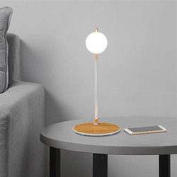 Qi Wireless Charger Stand LED Night Light Desk Lamp Luminaria Chargeur 2in1 For iPhone 11 Pro Max  X XS 8 Plus For Samsung S8