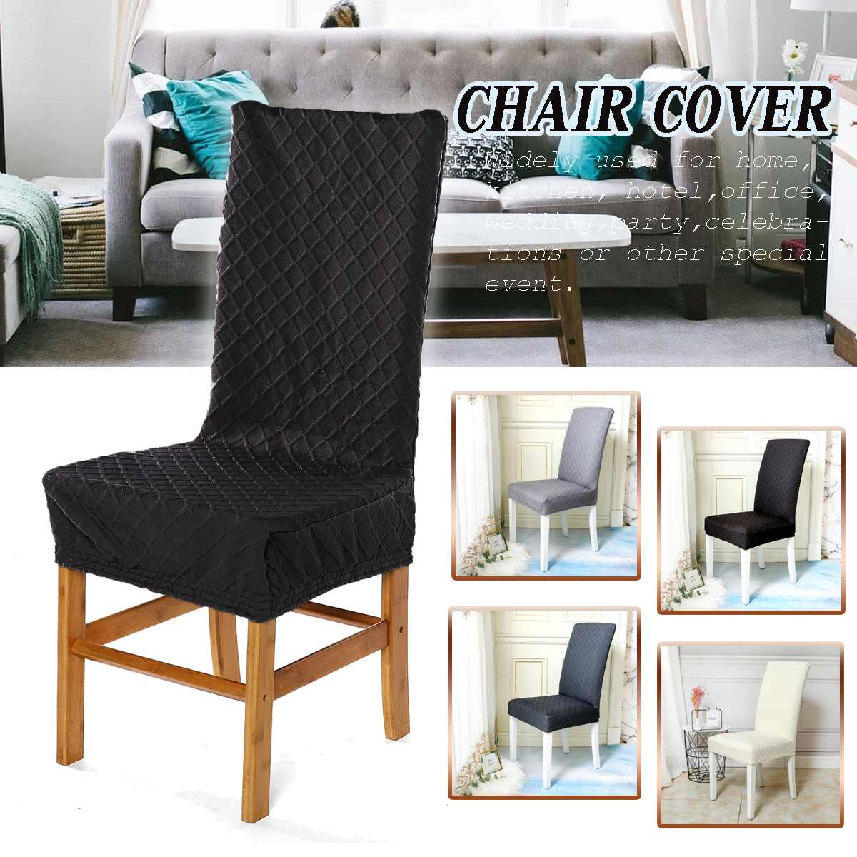 Chair Cover Sofa Fabric Dining Room Super Fit Stretch Removable Washable Short Dining Chair Protector Cover Seat Slipcover Chair Cover Aliexpress