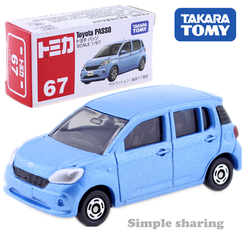 Takara Tomy Tomica No.67 Toyota Passo Scale 1/57 Car Hot Pop Kids Toys Motor Vehicle Diecast Metal Model Collectibles New image