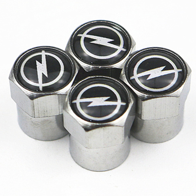 New Car Wheel Tires Valves caps For Volkswagen VW GOLF POLO TIGUAN TOYOTA Hyundai Chevrolet Saab FORD BMW AUDI STICKERS 4