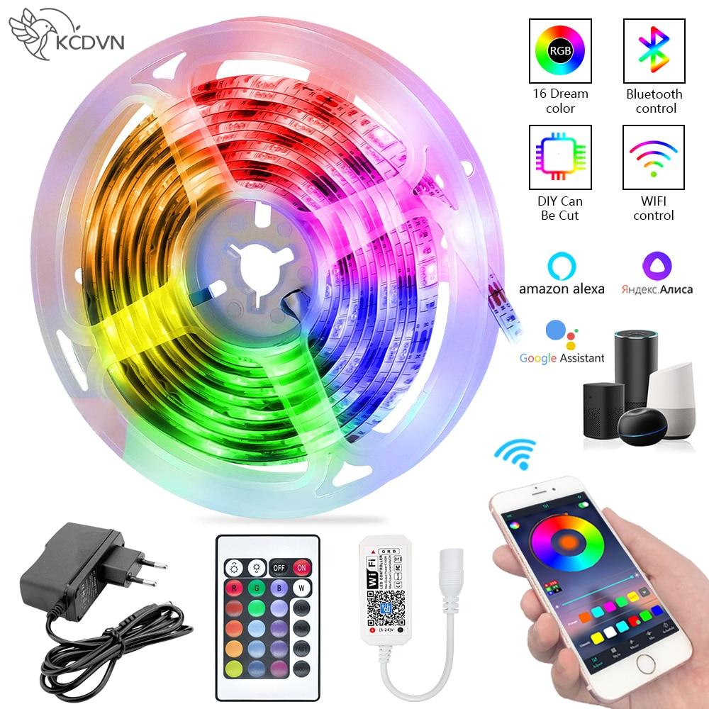 Светодиодная лента с поддержкой Bluetooth, Wi-Fi, RGB, 5050 люмен