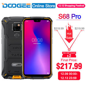 DOOGEE Helio P70 S68 Pro Rugged-Phone 128GB 6GB GSM/WCDMA/LTE NFC Adaptive Fast Charge