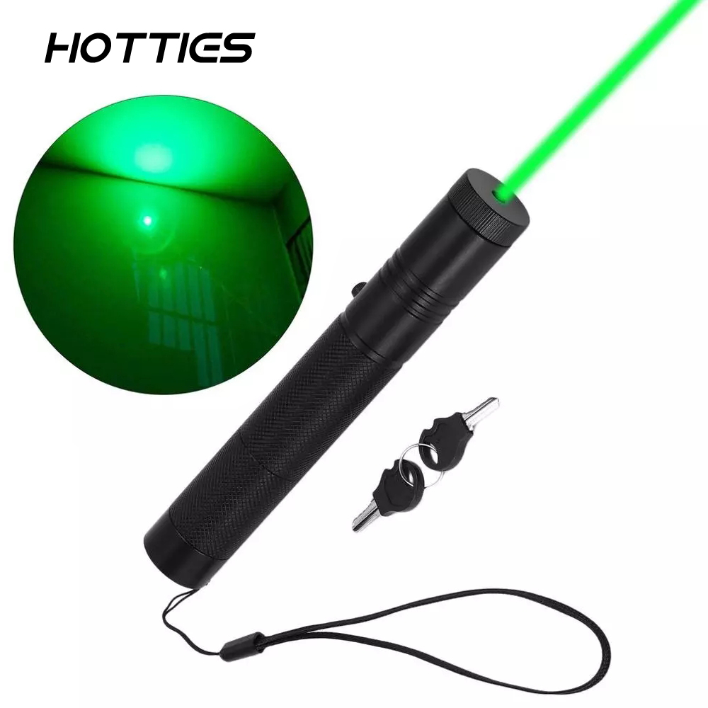 1mw Green 301 Laser Pointer Pen Focus 532NM Zoom Burning Visible Adjustable Beam Light Weight Portable