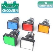 5V 12V 5pin моментальный светодиодный переключатель с автоматическим замком 16MM Кнопка с фиксацией