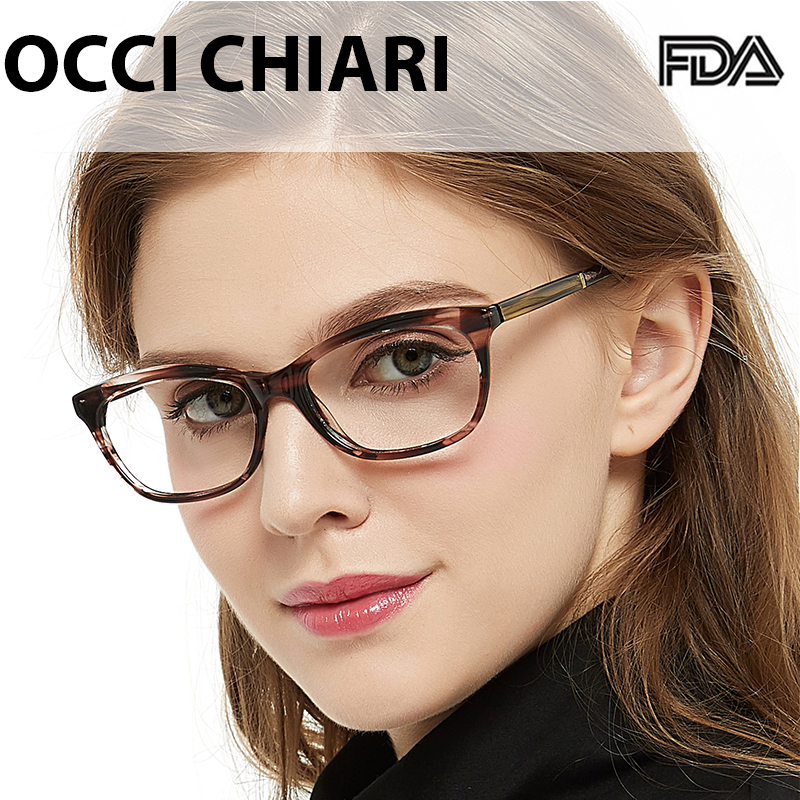 OCCI CHIARI Computer Eyewear Acetate Blue Light Glasses Transparent Eyewear Prescription spectacles Eyeglass frame women OC7058 image