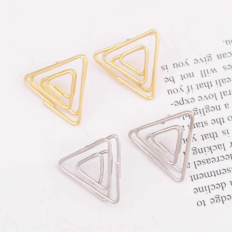 ES758 New Fashion Triangle Earrings Temperament Simple Stud Earrings For Women Jewelry Party Gifts Boucle D'oreille Femme 2019