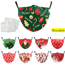 Dust Mouth Mask Christmas Print Mask Breathable Multi-purpose Mouth Caps Reusable Washable Filter Face Masks Facemask Mascarilla