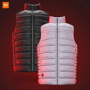 Image 2 - Xiaomi Mijia graphene intelligent temperature control fever goose down vest couple models 4 file temperature control
