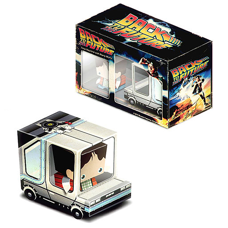 Back To The Future Cubee Van Car Box Ornament Folding Mini 3D Paper Model Papercraft DIY Kids Adult Handmade Craft Toys ER-001