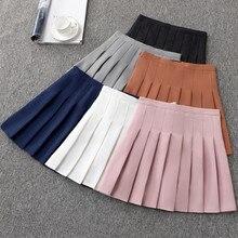 Короткое платье для крупных девушек, плиссированная белая теннисная юбка с высокой талией и шортами, теннисная плиссированная юбка для чар...