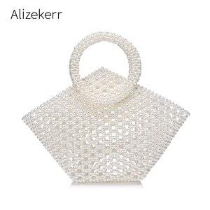 Hollow Out Pearl Handbag Women