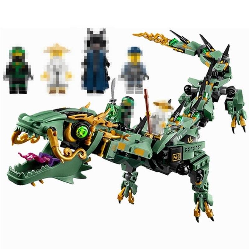 Ninja Flame Spys Green Mech Dragon Compatible Ninjagoes 70612 70653 70652 Building Blocks Bricks Toys Christmas Gifts