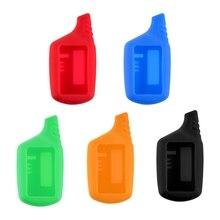цена на Key Cover B9 LCD Silicone Case For Original Starline B9/B91/B6/B61/A91/A61/V7 LCD Keychain Car Remote 2 Way Alarm Key Case