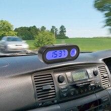 Horloge électronique précise LCD pour voiture, pratique et Portable, horloge numérique pour voiture 12V LED avec rétro-éclairage, #290120