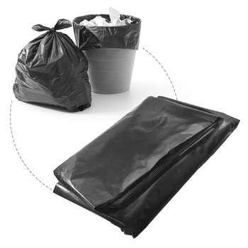 Large Thickened Garbage Bag Solid and Durable Extra Strong Heavy Duty Black Refuse Sacks Strong Thick Rubbish PE Material Bags image