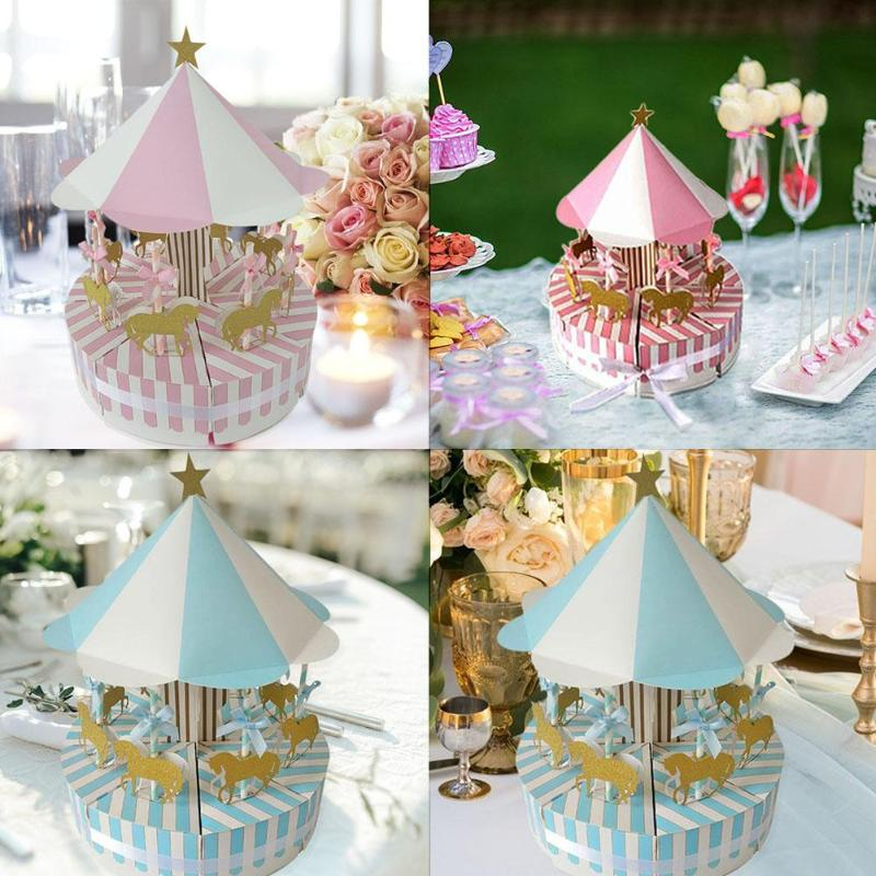 Carousel Candy Box Practical Romantic Wedding Birthday Party Decoration Guest Favors Gifts Novelty And Beauty Party Decoration