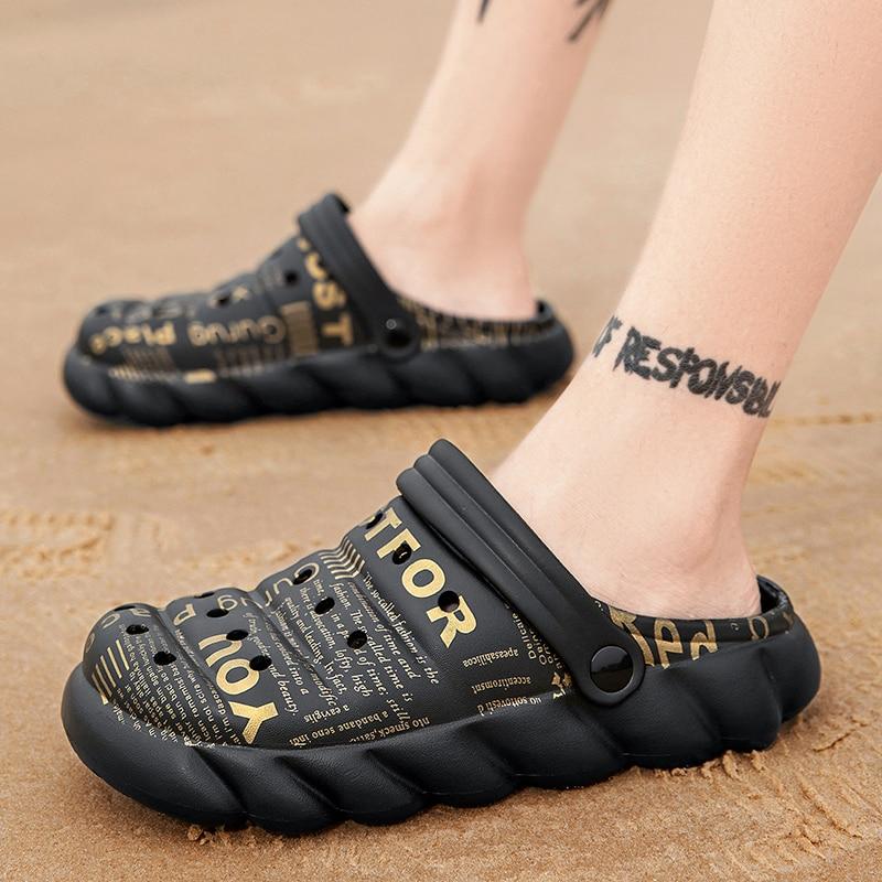 2021 homem homem clappers sandália para luxo