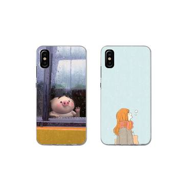 For iphone 11 PRO MAX X XS XR 4S 5S 6S 7 8 PLUS SE 2020 Cartoon innocent girl Phone Case soft TPU coque fundas image