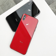 Plating Tempered Glass Case for iPhone XR case 7 X 6s 8 Plus 7Plus 8Plus XS MAX Phone Cover Coque