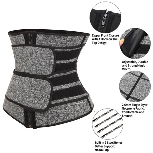 Slimming Neoprene Sauna Waist Trainer Corset Sweat Belt for Women Weight Loss Compression Trimmer Workout Fitness Waist Trainer 2