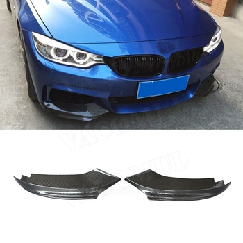 Carbon Fiber / FRP Front Bumper Splitters Lip Flaps Cupwings for BMW 4 Series F32 F33 435i M Sport 2014-2017 Bumper Trims image
