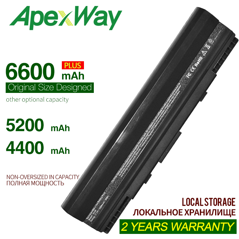 ApexWay 4400MAh Battery For Asus Eee PC A32-UL20 12011201N 1201T 1201HA 1201NL  UL20 UL20A UL20F UL20FT UL20G UL20GU UL20VT X