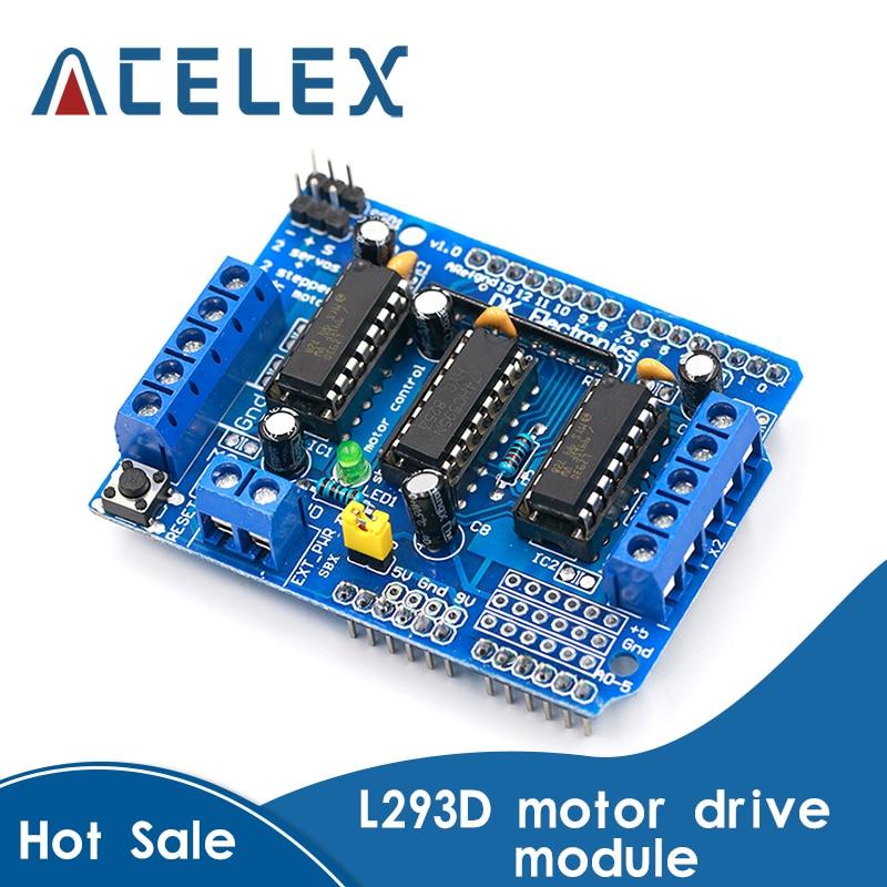 L293D щит управления двигателем Плата расширения привода двигателя для Arduino Щит двигателя