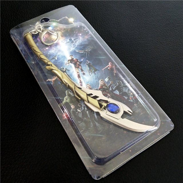Loki Laufeyson Thor Super héros sceptre porte-clés métal pendentif accessoire personnage accessoires Cosplay pendentif