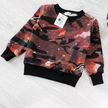 Kids Baby Boy Girls Sweatshirts Clothes Print