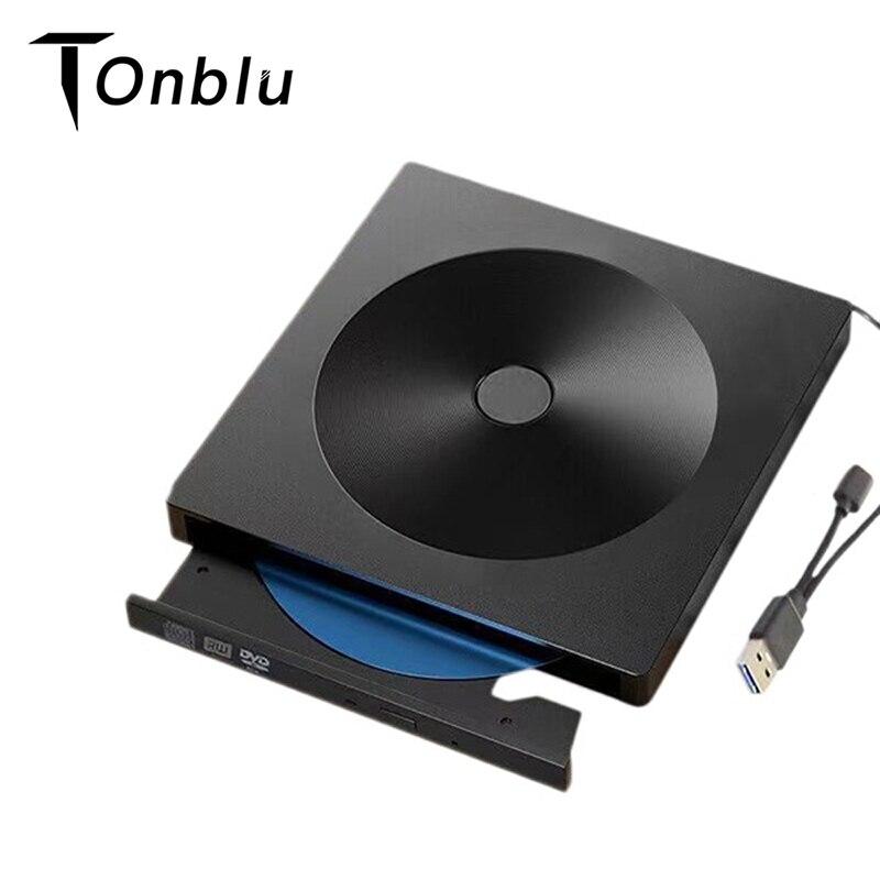 Portable External CD DVD Optical Drive Type C USB 3.0 External CD DVD Drive Burner Compatible with Mac/Windows Optical Drive CD