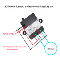 Dc 12v/24v rf433 remote control switch relay receiver module forward reverse steering controller module for linear actuator