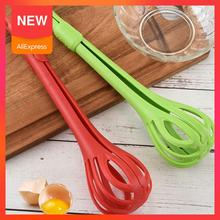 AYEVIN Multifunctional 3 in 1 Egg Beater Drinks Whisk Mixer Stirrer Nylon Noodle Tongs Pasta Spaghetti Food Clips Kichen Tools