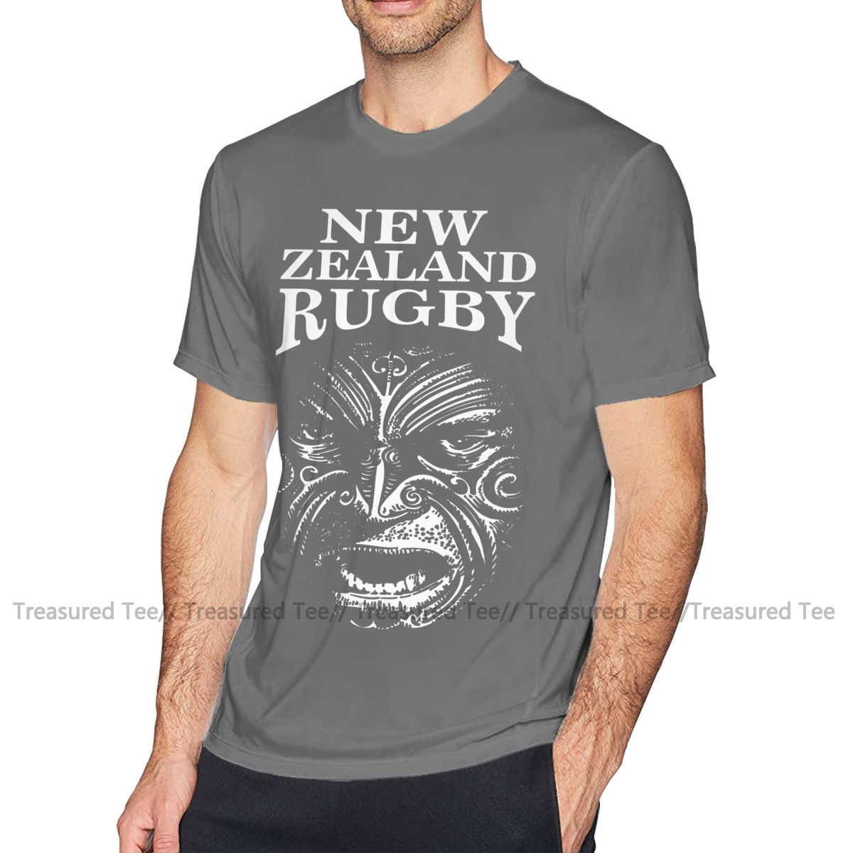 5XL T Shirt All Union Size 4XL New Zealand Fern Rugby T-Shirt Kiwi Blacks