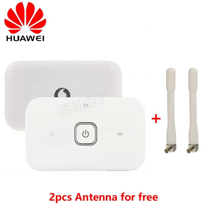 Unlocked HUAWEI Vodafone R216 4G 150Mbps WIFI Router Mobile Hotspot Pocket Mifi 4G Carfi Modem +2 Ts9 Antennas PK E5573 E5577