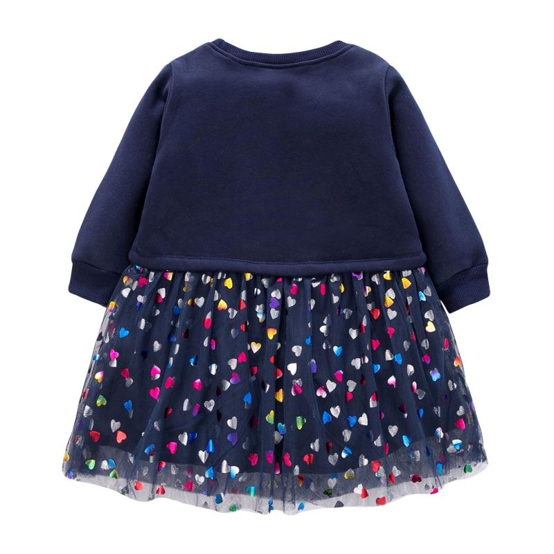 Little Maven Brand Baby Girls Clothes Winter Black Unicorn Cotton Print Toddler Girl Christmas Dresses for Kids 2-7 Years S0908 2
