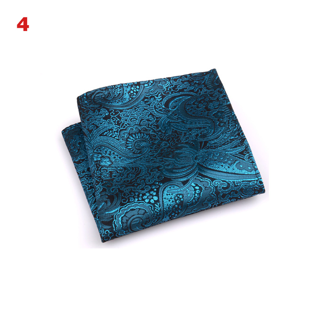Vintage Men British Design Floral Print Pocket Square Handkerchief Chest Towel Suit Accessories B88