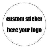 Custom sticker personalizde logo min 50 roll (500pcs labels) stickers