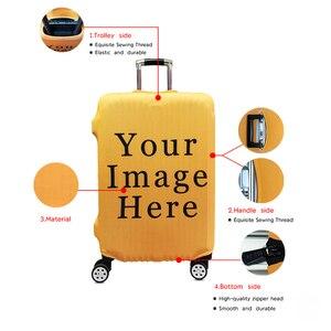 Защитный чехол с изображением животных Совы/собаки/лошади/жирафа для багажа, эластичный чехол для костюма, чехол с защитой от пыли для путеш...