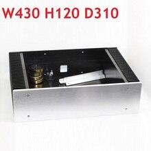 D310 W430 H120 CAD Châssis Damplificateur Alimentation BRICOLAGE Boîte En Aluminium Pur Classe UN Châssis Préamplificateur Ampli Casque Audio