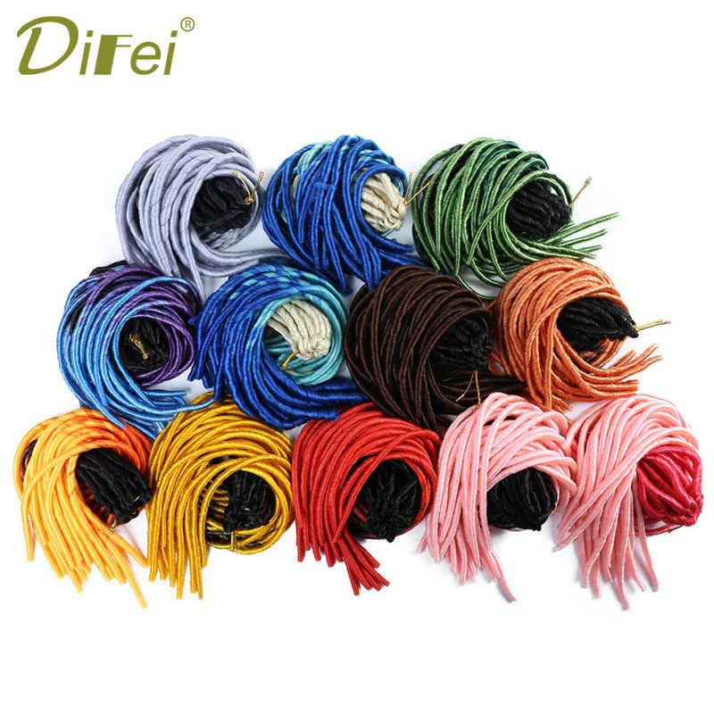 DIFEI 20 дюймов мягкая прическа Омбре цвет синтетический парик плетение наращивание волос