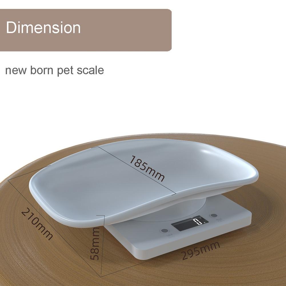 Цифровые весы, высокоточный электронный прибор для взвешивания собак, кошек, животных, с ЖК-экраном, для младенцев-5
