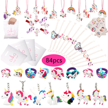 84pcs Unicorn Birthday Party Favors Kit For Kids Wedding Gift for Guests Return Gifts For Girls / Boy Party Supplies