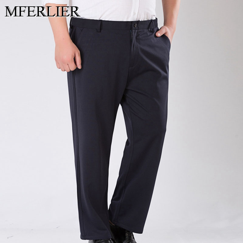 Spring Summer Plus Size Pants 5XL 6XL 7XL 8XL 9XL Business Waist 138cm Elastic Loose Pants 2 Colors
