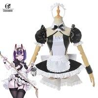 ROLECOS Fate Grand Order Shuten douji Cosplay Shuten douji Maid Dress FGO Game Costume Sexy Women Costume Apron Dress