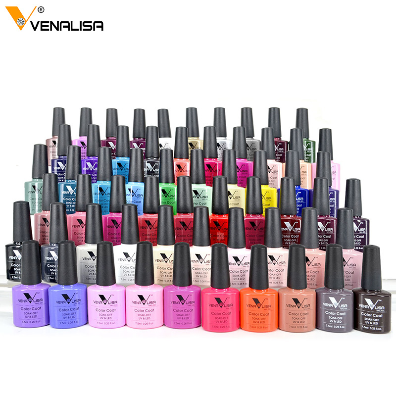 Venalisa 7.5ml soak off gel nail polish canni nail supply wholesale uv gel lacquer led color nail art glitter polish lamp(China)